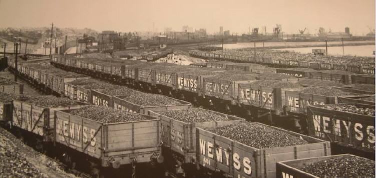 Wemyss Private Railway Coal Wagons at Methil Docks